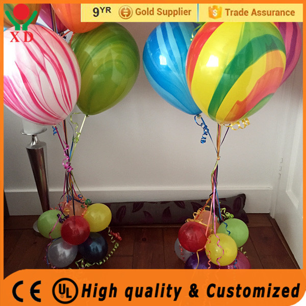 "Factory Price party decoration 12"" marble colors round shape latex balloons"