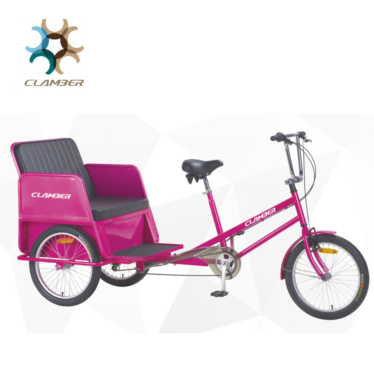 TC8001 Fashion 20 inch manpower pedal rickshaw pedicab manufacturer
