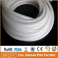 Cixi Jinguan Food Grade High Pressure Braided Silicone Rubber High Pressure Water Silicone Hose,Water Dispenser Silicone Tube