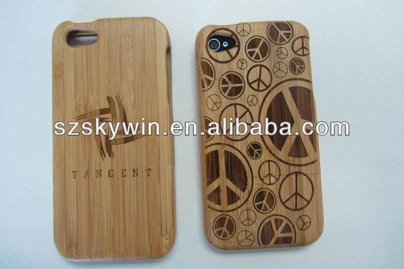 latest wood logo engraving phone case for iphone5c 2014