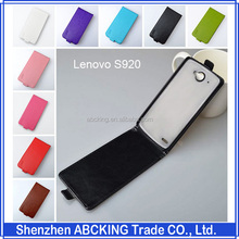J&R Brand High Quality Flip Leather 9 Colors PU Leather + PC Case For Lenovo S920