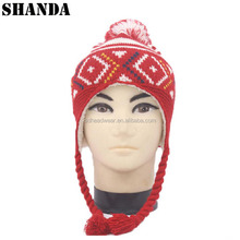 Earflap beanie patterns free custom knitting winter hat with braids