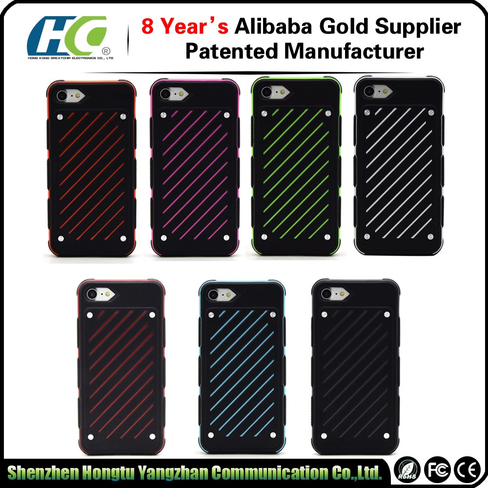 Drop shipping durable OEM rubber TPU PC slim cover case for IPhone 7 7plus