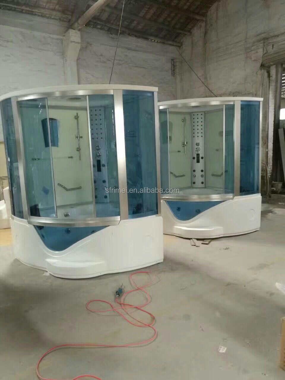 K-7081 Foshan Factory Sliding Door Steam Shower Room With Hot Tub