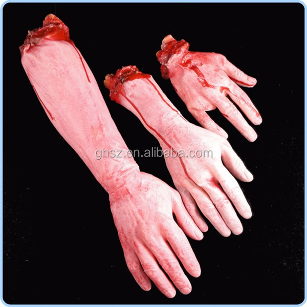 Custom halloween props bloody arms fake hands