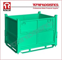 Folding Wire Mesh Cage Storage Steel Crate Supplier (L1000*W800 mm/OEM)