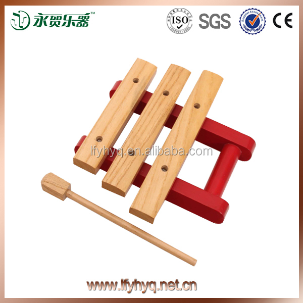Kids piano toys mini wooden 3 notes xylophone with Mallets