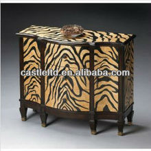 CF30103 Tiger Print Console Cabinet Accent drawer chest