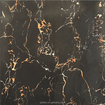 GT0013 600x600MM Full Glazed Polsihed zimbabwe black granite floor tiles