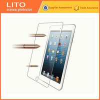 7 inch 0.3mm high clear anti-scratch tempered glass tablet screen protector for iPad