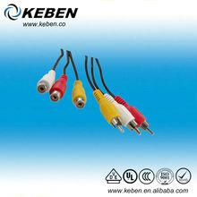 Gold plated connector component video cable