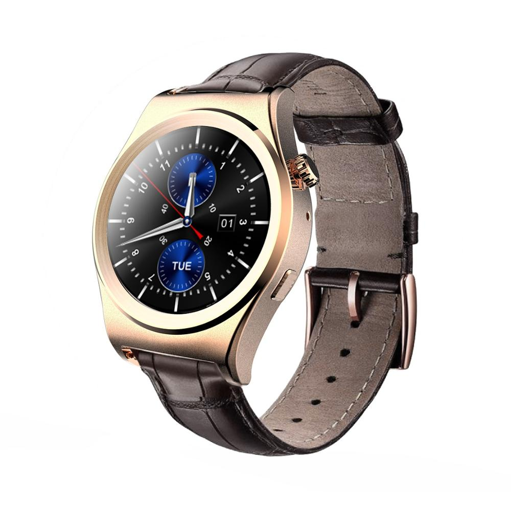Full Round Wireless BT Smart Watch 1.3&quot; IPS Touch Heart Rate Thermometer BT 4.0 MTK2502C CPU 250Mah <strong>Battery</strong>