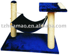 sisal cat tree with hammock bed