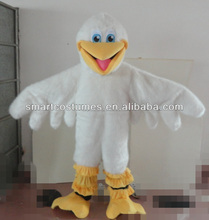 white bird mascot costume adult pelican costume