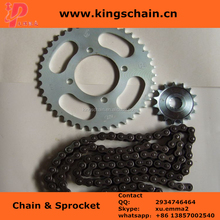 Cheap price motorcycle spare parts DY 100 1045 steel motorcycle chain and sprocket sets