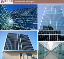 Cheap curtain wall price/visible and invisible aluminum frame glass curtain wall/glass curtain wall price