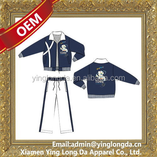 Design new products velvet track suit for women