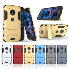2 In 1 Hybrid Rugged Combo Iron Man Case Back Cover For Motorola Moto G5 Plus Kickstand Case