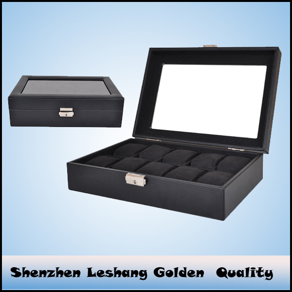 fashion PU leather watches box wholesale&wooden pocket watch display case