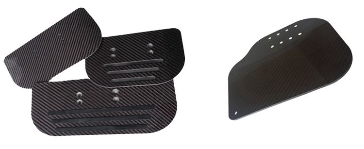 OEM factory directly 3k twill Glossy carbon fiber wheelchair leg rest
