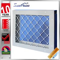 security single panle aluminum Shutter screen mesh window comply with AS2047