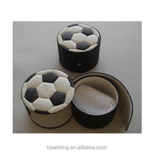 Supplier Foot Ball Shaped Watch Gift Box Leather Watch Boxes