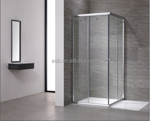 square double 6mm Tempered Glass saudi arabia shower door