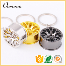 Promotional Item Wheel Car Metal Keychain For Gifts