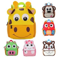 Amazon hotselling wholesale animal printinig neoprene recyclable fashion kids school bag