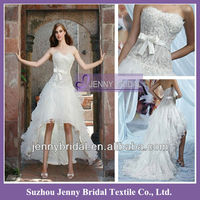 PB124 Front short and long back wedding dress