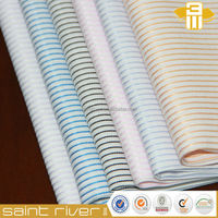 1806 Fabric blue white stripe