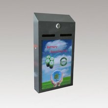 GH-B06A-P wall mounted advertise function used battery recycle box
