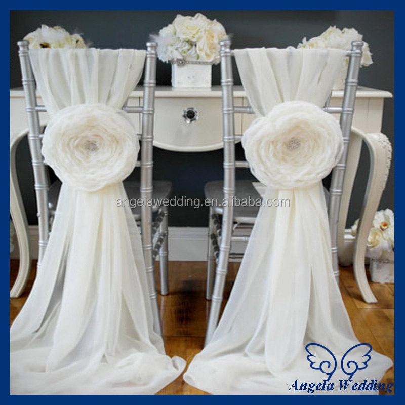 Wedding Chair Bows | Sh007c Wholesale Cheap Fancy Wedding Organza Yellow Chair Sashes