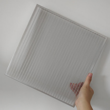 Perforated aluminum ceilings panel with fluorocarbon coating