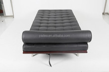 Buy 2016 luxury replica leather black mies van der rohe barcelona daybed
