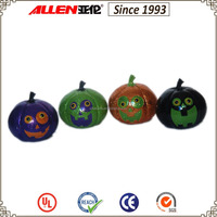 "4.5"" four colors small resin pumpkin craft for Halloween tabletop decoration"