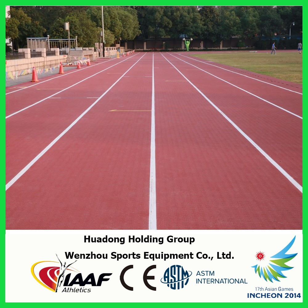 Prefabricated synthetic rubber running tracks, multi-use sports court, school, track and field