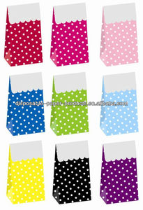childrens Party Themes Girls Party Bags boxes PAPER Sweet Party Polkadot Treat Boxes for Birthday Party Shower Supplies