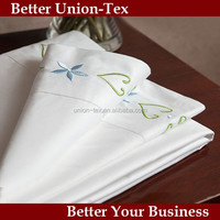 60s 300t cotton hand embroidery design bed sheet