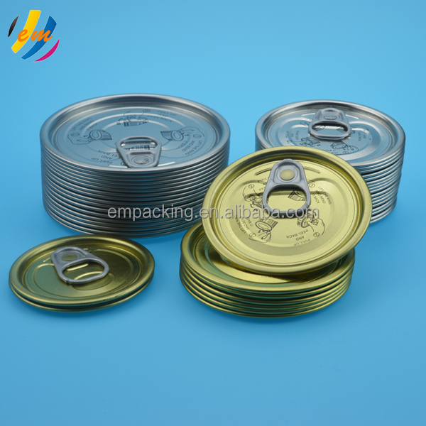 Tinplate lid for fish packing food grade lacquer inside