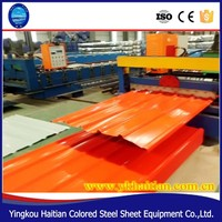 840 Flat Roofing Color Sheet Making Machine/corrugated steel roofing machine