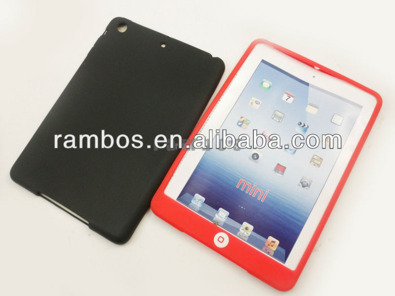 For iPad mini chocolate home button bean silicone case