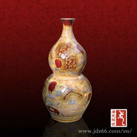 Gourd-shaped Ceramic May Your Finances Profitable Art Pottery