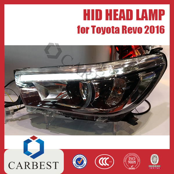 High Quality New Hid Head lamp for Toyota Hilux Vigo Revo 2016