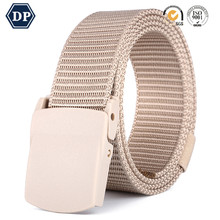 DP8208A-7 polyester innovation metal button Fashion belt / metal buckle casual style fashion belt
