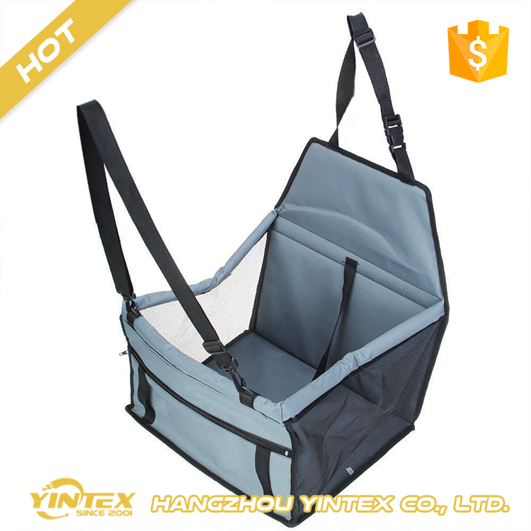 Portable Pet Dog Car Booster Seat,Folding Pet Cat Puppy Safe Travel Seat Carrier Bag Dog Seat Cover for Cars with Safety Leash