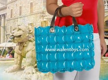 inflatable bubble tote bag