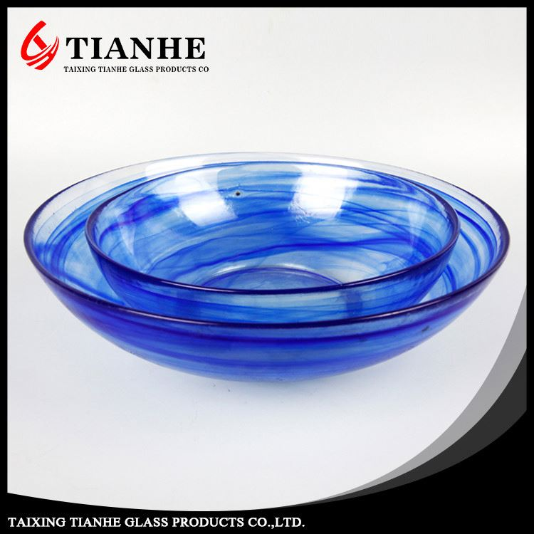 Tianhe first class quality customizable Blue glass stem and bowl