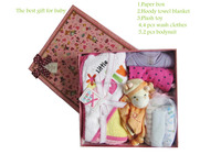 Baby best gift set , washclothes with plush toy