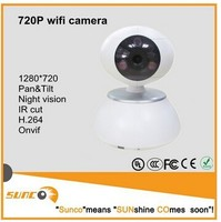 wholesale New Arrival 720P pan&tilt wifi wireless P2P IP camera